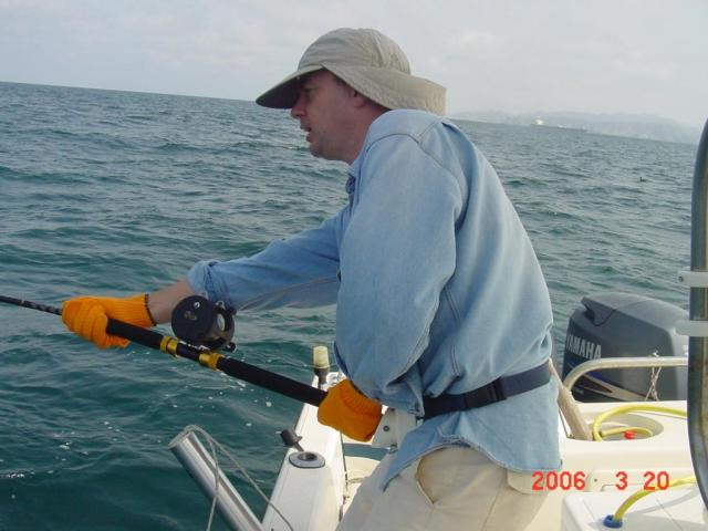 Me feeling the strain of the big tuna! (20.03.06)