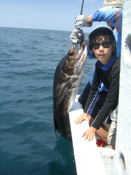 Siôn's c.40kg Sailfish (6.07.08) (2)