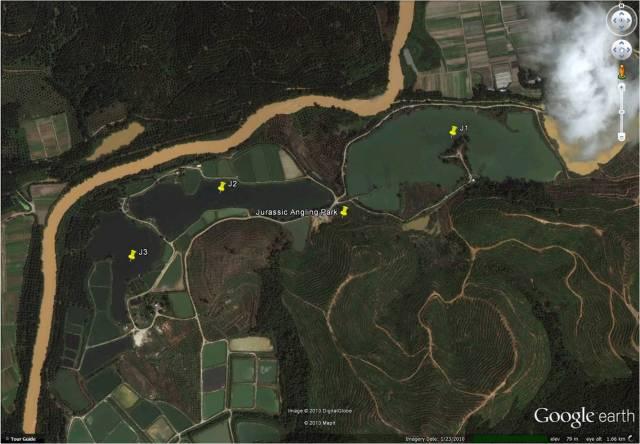 Jurassic Angling Park Google Earth