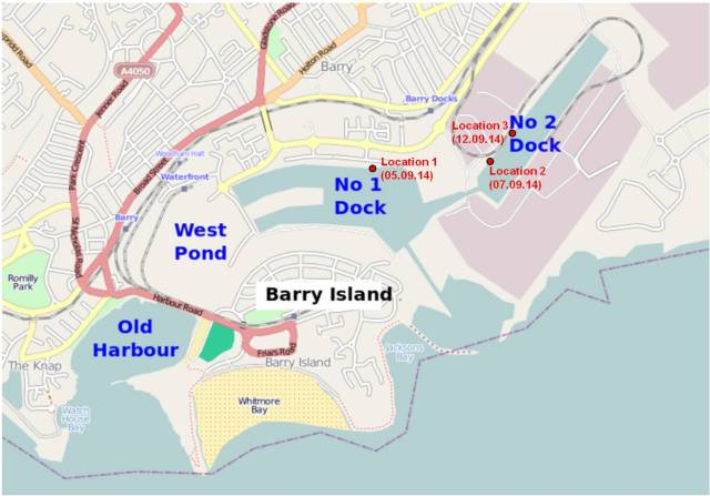 Barry Dock Layout & fishing locations