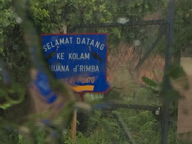 Kolam Saujana d'Rimba signpost (06.12.14)