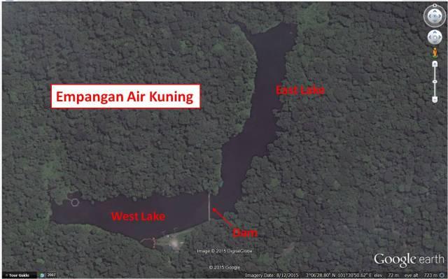 Empangan Air Kuning - Google Earth